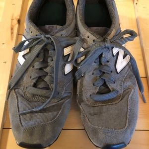 New Balance 696 Running Athletic Shoes Gray 8 M